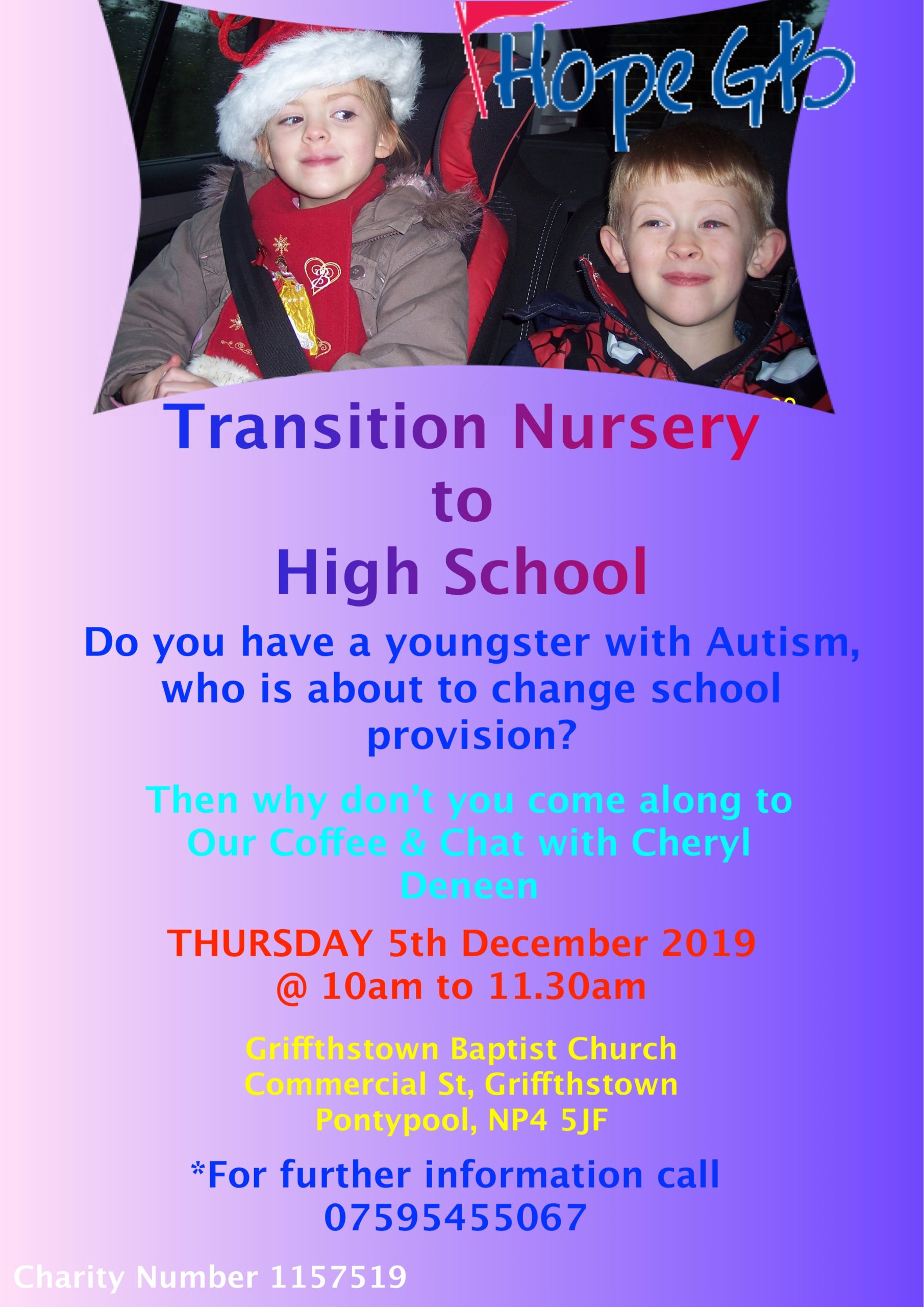 Coffee Morning Primary Transition Tuesday 3rd December 2019